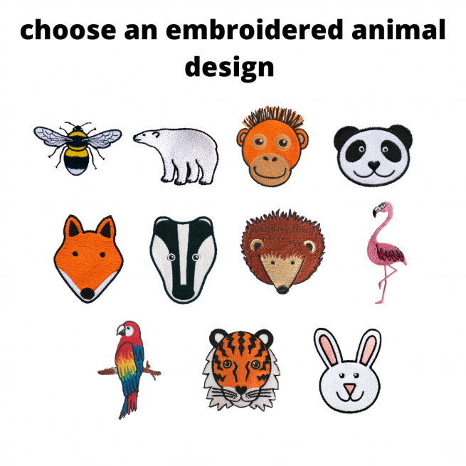 back pack embroidered animal designs - tommy & lottie