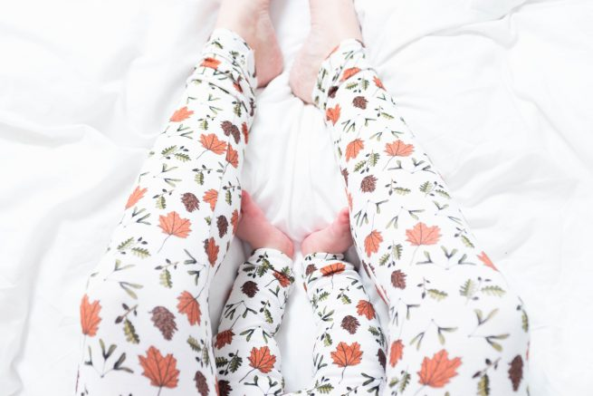Twinning organic cotton leggings - Mummy and me - Tommy and Lottie