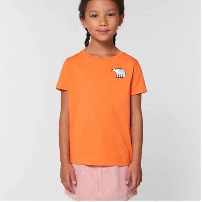 Tommy & Lottie Organic Cotton Kids Melon Code Polar Bear T Shirt