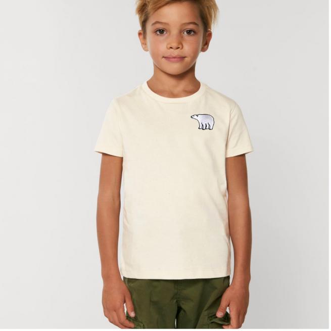 Tommy & Lottie Organic Cotton Kids Natural Polar Bear T Shirt