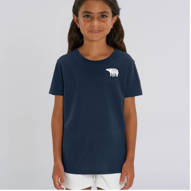 Tommy & Lottie Organic Cotton Kids Navy Polar Bear T Shirt