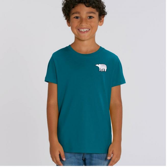 Tommy & Lottie Organic Cotton Kids Ocean Depth Polar Bear T Shirt