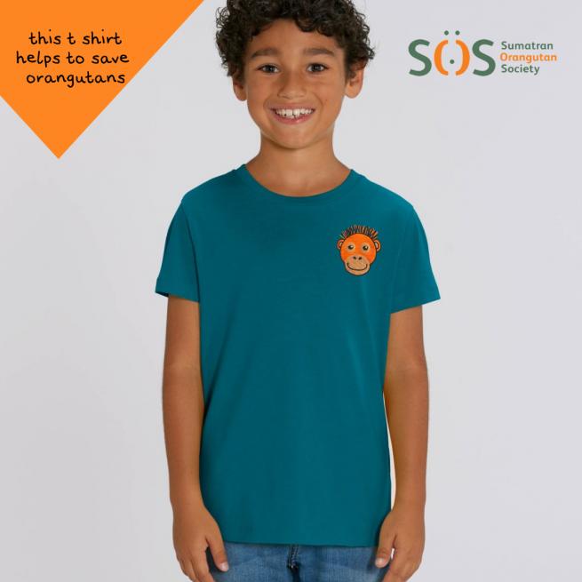 Save the orangutan organic cotton t shirt - childrens