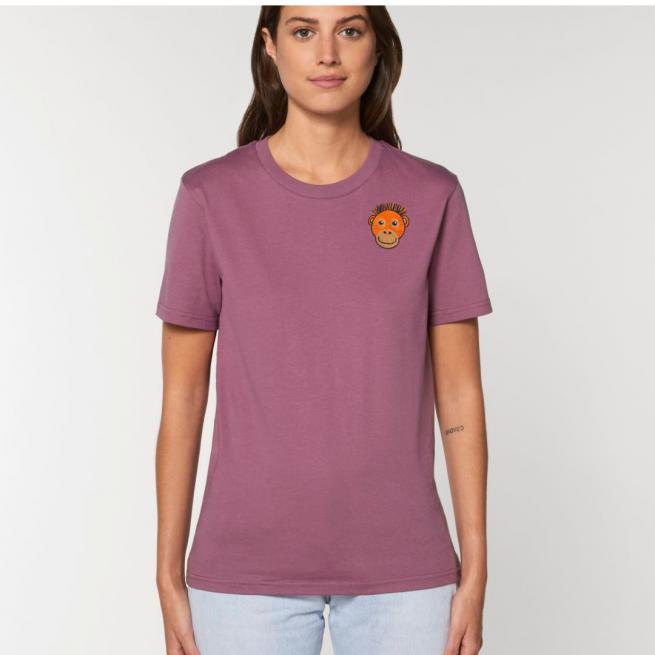 tommy & lottie Adults Orangutan Mauve T Shirt