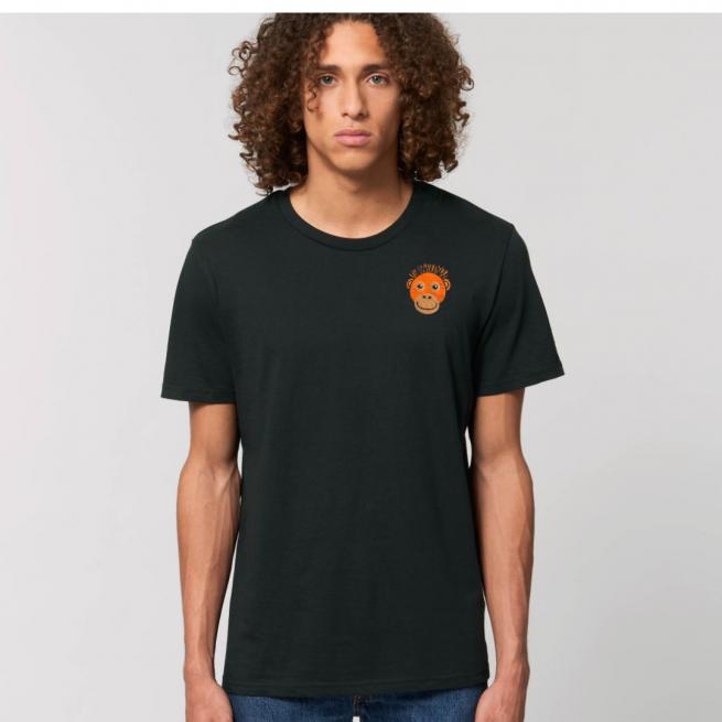 Tommy & Lottie Adults Organic Cotton Black Orangutan T Shirt