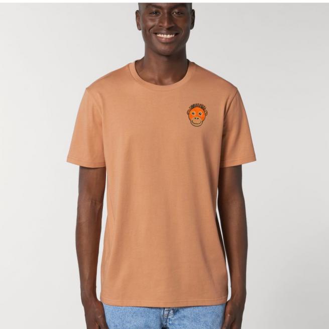 Tommy & Lottie Adults Organic Cotton Mushroom Orangutan T Shirt
