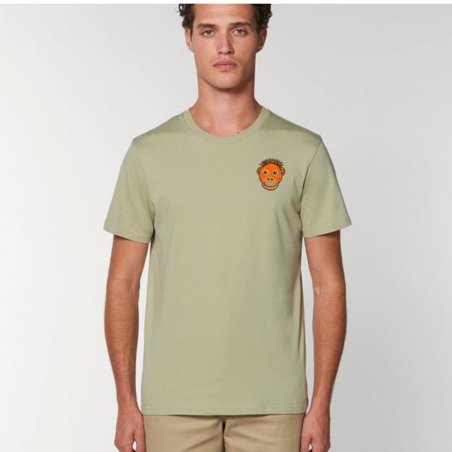 Tommy & Lottie Adults Organic Cotton Sage Orangutan T Shirt