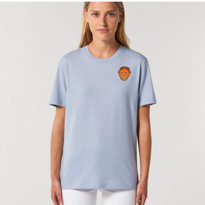 Tommy & Lottie Adults Organic Cotton Serene Blue Orangutan T Shirt