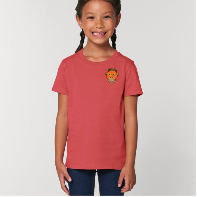 Tommy & Lottie Organic Cotton Kids Carmine Red Orangutan T Shirt