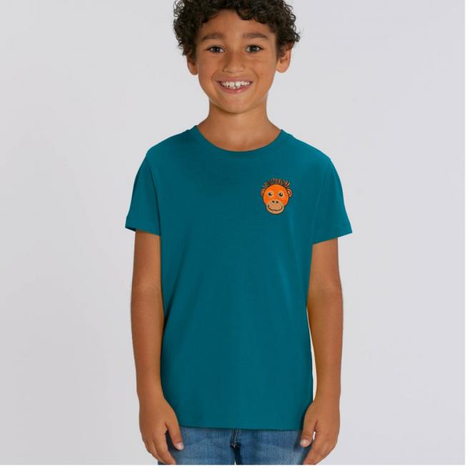 Tommy & Lottie Organic Cotton Kids Ocean Depth Orangutan T Shirt