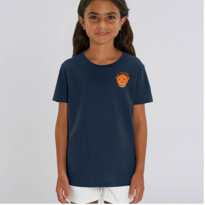 Tommy & Lottie Organic Cotton Kids Orangutan Navy T Shirt