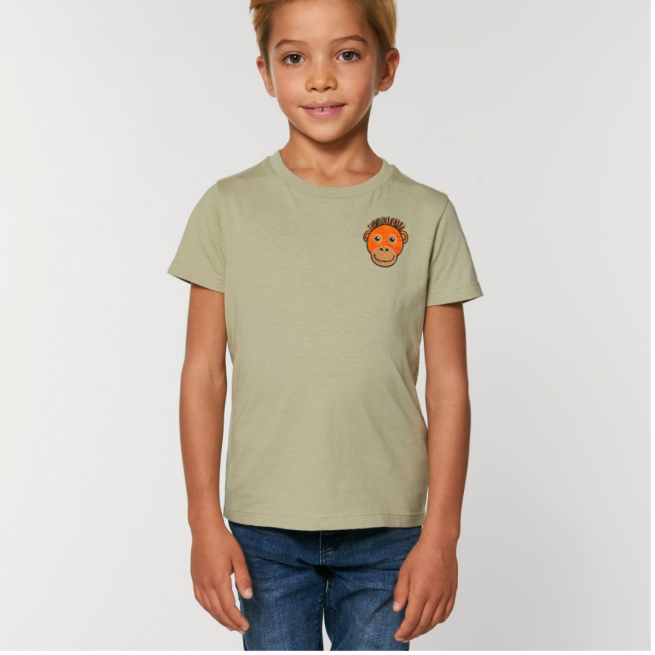 Tommy & Lottie Organic Cotton Kids Sage Orangutan T Shirt