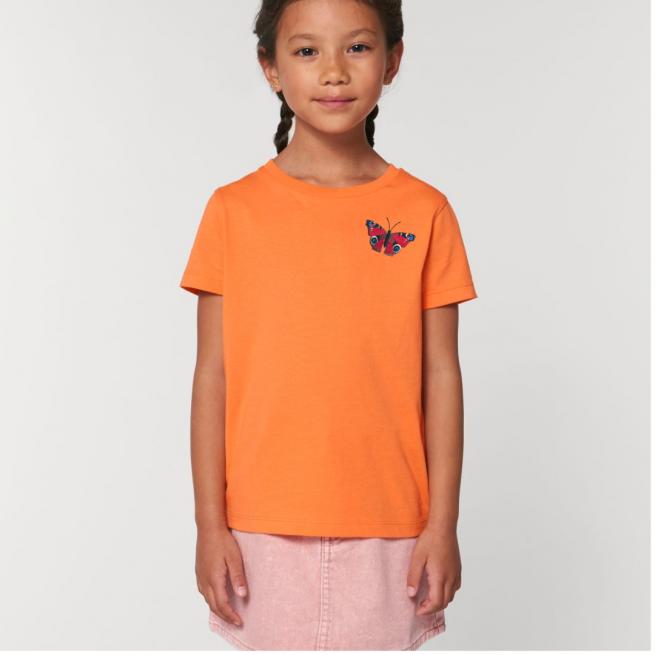 Tommy & Lottie Organic Cotton Kids Peacock Butterfly Flamingo T Shirt