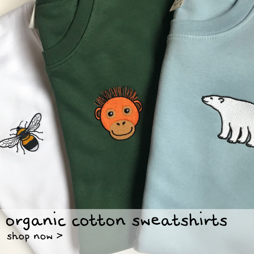 Tommy & Lottie Organic Cotton Sweatshirts for kids and adults