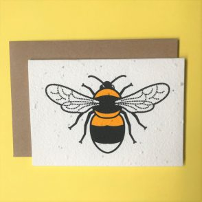 tommy & lottie bee plantable seed card - front