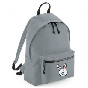 tommy & lottie bunny grey back pack - made from recycled plastic bottles