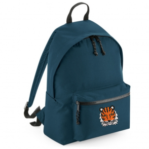 tommy & lottie tiger blue back pack - made from recycled plastic bottles